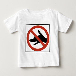 No Shadow Puppets Allowed Highway Sign Baby T-Shirt
