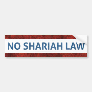 No Shariah Law Bumper Sticker