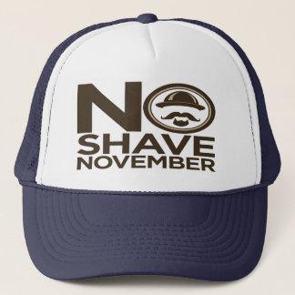 No Shave November Moustache Beard Trucker Hat