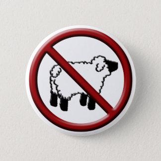 No Sheep! 6 Cm Round Badge