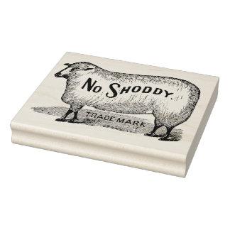 No Shoddy Sheep Vintage Trademark Art Stamp