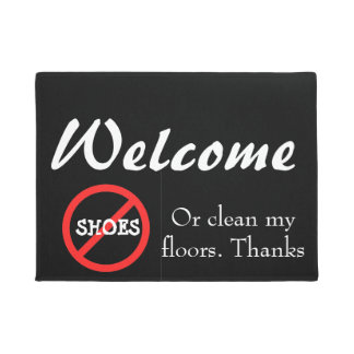 Inkworks designs collections on zazzle - No shoes doormat ...