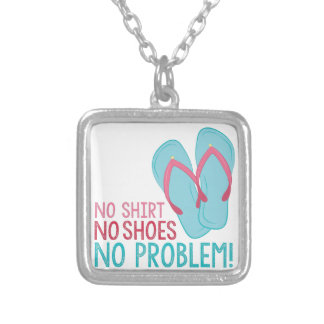 No Shoes Silver Plated Necklace