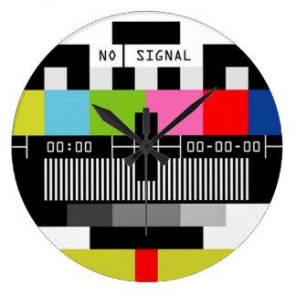 No Signal Large Clock
