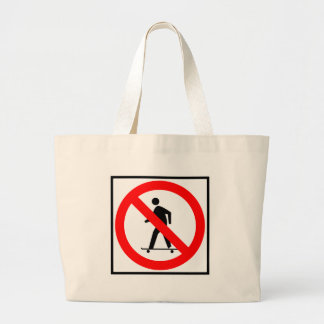 No Skateboarding Highway Sign Tote Bags