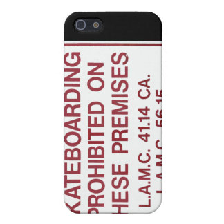 No Skateboarding iPhone case iPhone 5 Cases