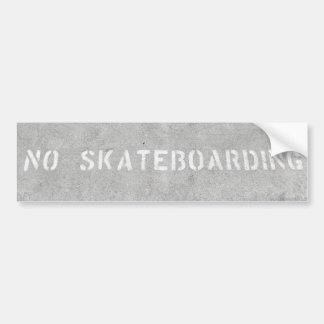 No Skateboarding sticker Car Bumper Sticker