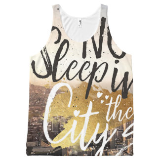 No Sleep in The City Graphic Unisex Tank