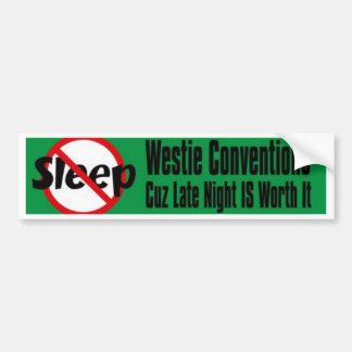 no sleep late night bumper sticker