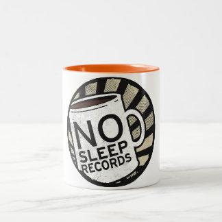 No Sleep Records Orange 11 oz Two-Tone Mug