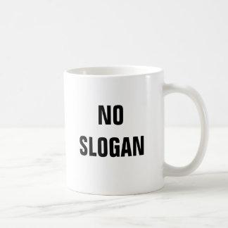 NO SLOGAN BASIC WHITE MUG