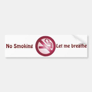 No Smoke_ Bumper Sticker
