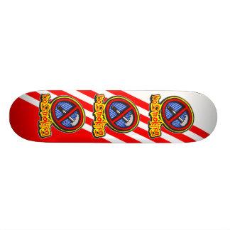 No Smoking 21.6 Cm Skateboard Deck