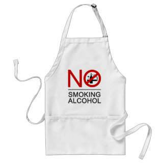NO Smoking Alcohol ⚠ Thai Sign ⚠ Standard Apron
