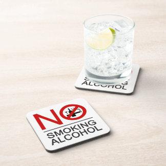 NO Smoking Alcohol ⚠ Thai Sign ⚠ Beverage Coasters