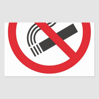 No Smoking Area Rectangular Sticker