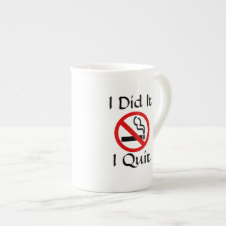 No Smoking I Quit Bone China Mug