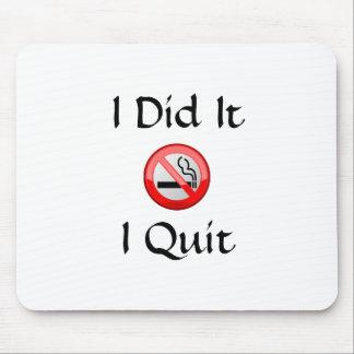 No Smoking I Quit Mouse Pad