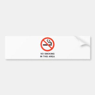 No Smoking In This Area Bumper Sticker