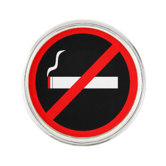 NO SMOKING LAPEL PIN