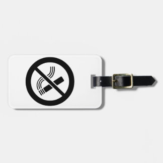 No Smoking Luggage Tag
