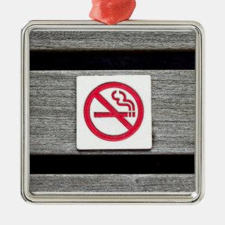 No Smoking Metal Ornament
