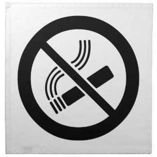 No Smoking Napkin