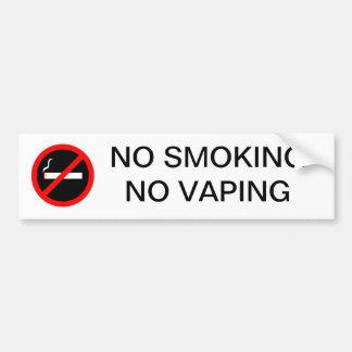 NO SMOKING NO VAPING SIGN BUMPER STICKER