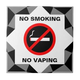 NO SMOKING NO VAPING SIGN CERAMIC TILE