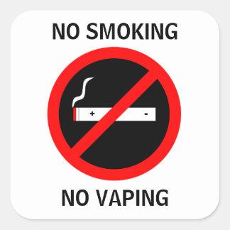NO SMOKING NO VAPING SIGN SQUARE STICKER