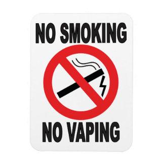 No Smoking No Vaping warning sign Magnet