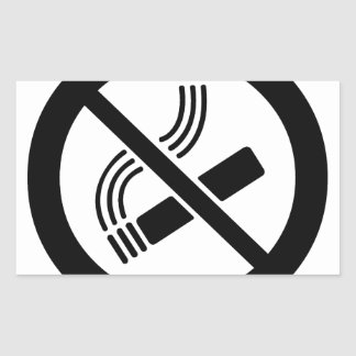 No Smoking Rectangular Sticker
