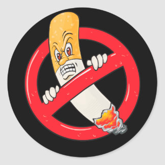 No Smoking Sign Classic Round Sticker