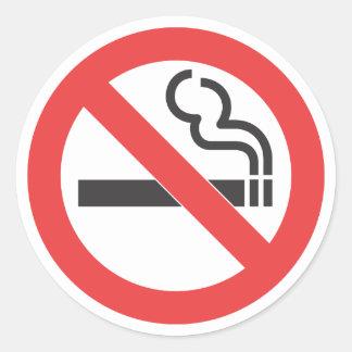 No Smoking Sign Classic Round Sticker