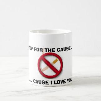 no smoking sign coffee mug