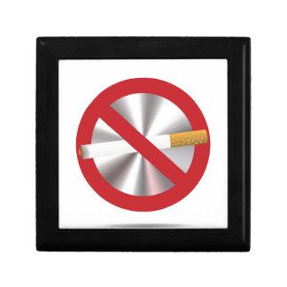 no smoking sign gift box