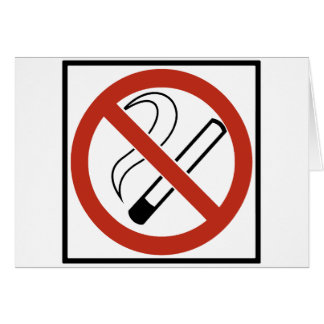 No Smoking Sign Greeting Card