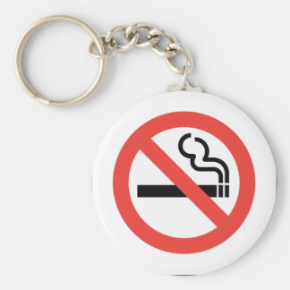 No Smoking Sign Key Ring