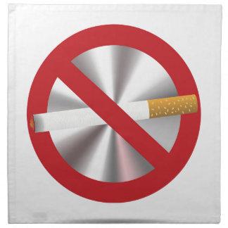 no smoking sign napkin