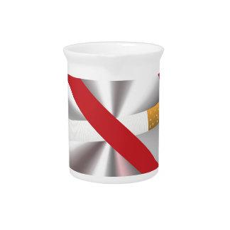 no smoking sign pitcher