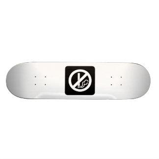 No Smoking Sign Skate Deck