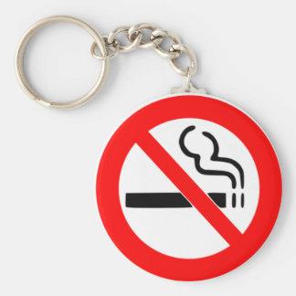 NO SMOKING SIGN - SMOKING PROHIBITED KEY RING