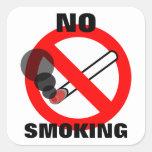 No Smoking Sign Square Sticker