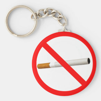 No Smoking Sign with Cigarette Key Ring