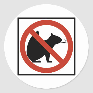 No Smoking Squirrels Allowed Highway Sign Classic Round Sticker