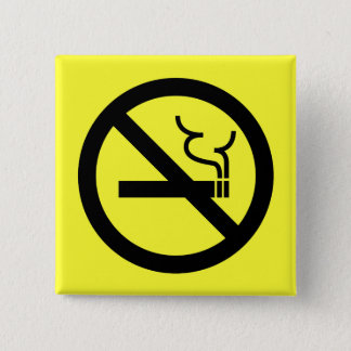 No Smoking Symbol 15 Cm Square Badge