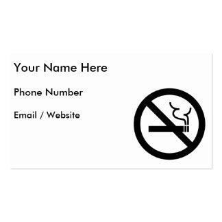 No Smoking Symbol Business Cards