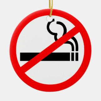 No Smoking Symbol Round Ceramic Decoration