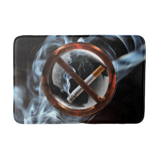 No Smoking Zone Bath Mat