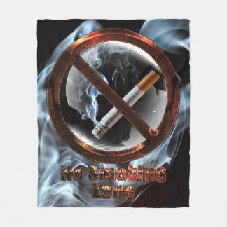 No Smoking Zone Fleece Blanket